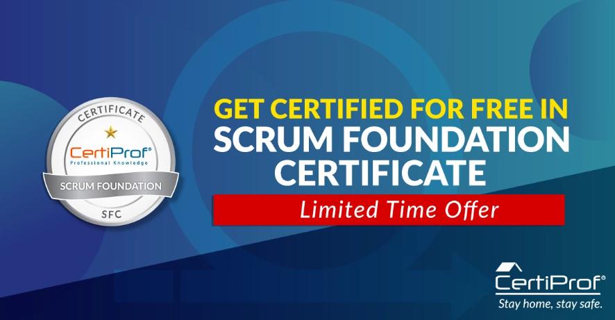 Scrum Foundation Certificate SFPC) Gratis por tiempo limitado